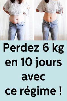 Perdez 6 kg en 10 jours avec ce régime !