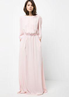 Mango Blush Pink Sleeved Maxi