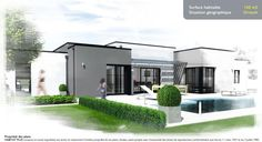 Maison Moderne Plain Pied Toit Plat 1 Plan Maison Moderne Plain Pied