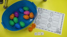 Easter themed math and literacy centers