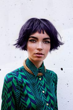 Short hair - Purple Genesis by Pier-Alexandre Gagné for Design Scene Love Hair, My Hair, Fashion Photo, Fashion Beauty, Short Purple Hair, Fashion Stylist, Short Hair Styles, Winter Fashion, Stylists