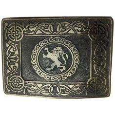 Tartan City Mens Scotish Kilt Belt Buckle Lion Rampnat Black Finish//Cross Lion Rampant Belt Buckle//Celtic Kilt Belt Buckle