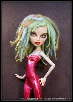 Monster Doll Wig High Fashion Dreadlock Wool Dreds by Fantasydolls