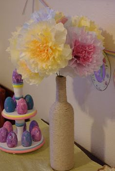 Coffee Filter Flowers...these are easy & fun project to do with older children!