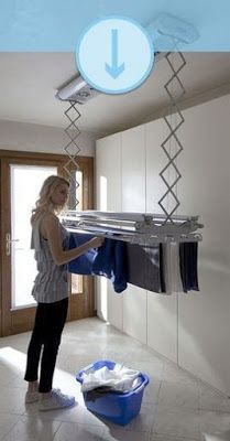 50 Drying Room Design Ideas That You Can Try In Your Home Small Laundry Room Ideas are a lot of fun if you find the right ones and use them adequately. With the right approach and some nifty ideas you can take things to the next level. Small Laundry Rooms, Laundry Closet, Laundry Room Organization, Laundry Room Design, Laundry In Bathroom, Basement Laundry, Küchen Design, House Design, Design Ideas