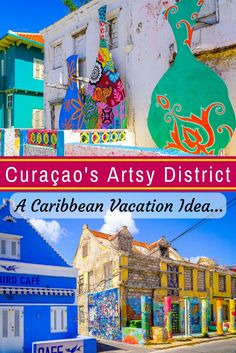 Looking for colorful buildings in the Caribbean island of Curaçao, with a mix of old and new? The Pietermaai District of Willemstad is renovating crumbling buildings into fun places to eat, stay, and shop, plus public art! See the beautiful pictures here. Willemstad, Cruise Pictures, Vacation Pictures, Vacation Ideas, Ecuador, Caribbean Decor, Caribbean Sea, Family Destinations, Honeymoon Destinations