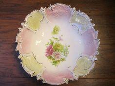 RS Prussia Pink Yellow Chrysanthemum Bowl