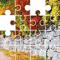 Fall & Wall Jigsaw Puzzle, 32 Piece Round.