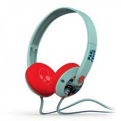 Amazon.com  Skullcandy Uprock Paul Frank Premium Wired Headphone -  Turquoise Red  Electronics 0bff9709a56ec