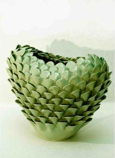 Green ceramic vase 2014 Claudia Frignani -Milano