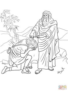 Samuel Anoints David As King Coloring Page From Category Select 24848 Printable Crafts Of Cartoons Nature Animals Bible And Many More