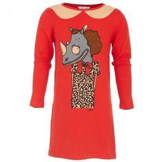 Little Marc Jacobs Orange Miss Rhino Dress