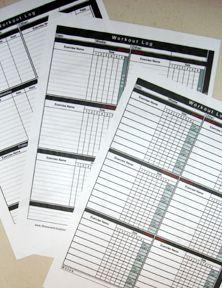 free printable workout log!!