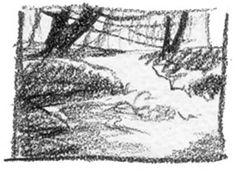 Watercolor Step 1: Thumbnail Sketch, Cathy Johnson