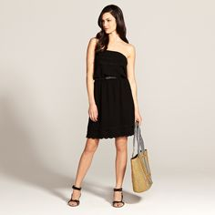 Black Strapless Dress...I'm looking for this one on the SALE rack!