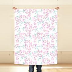 """""""Flamingo Origami"""" Tela por MonicaTextil"""