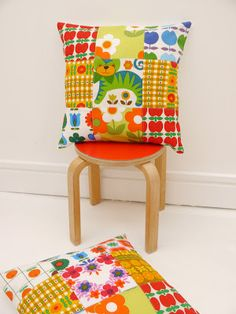 Jane Foster Blog: 70s Patchwork Cushions by Jane Foster