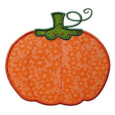 Free Applique Designs | ... Dreams Embroidery: PUMPKIN Machine Embroidery Applique Design Pattern