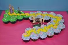 Rapunzel Tangled Cupcakes!