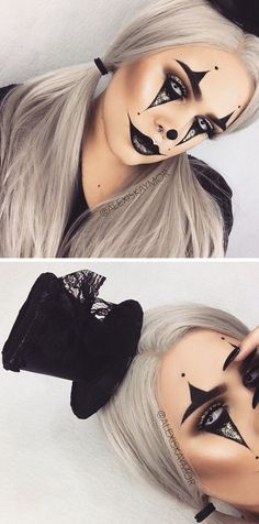 Cool 71 Inspiring Halloween Makeup Ideas to Makes You Look Creepy but Cute. More at http://aksahinjewelry.com/2017/09/30/71-inspiring-halloween-makeup-ideas-makes-look-creepy-cute/