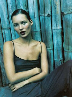 """""""Island Girl"""" with Kate Moss by Mario Sorrenti for Harper's Bazaar 1997."""