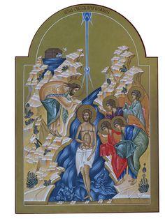 La Mostra | Byzantine Icons, Byzantine Art, Baptism Of Christ, Jesus Christ, Religious Icons, Religious Art, John The Baptist, Orthodox Icons, Fiestas