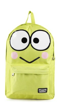 How adorable is this #Keroppi backpack?  This supercute backpack is ideal for school, work or your next adventure.