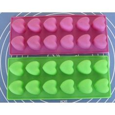 Silicone Cake Mold Muffin Cups Cake Pan Soap Ice Chocolate Mold 12-Hearts Mold