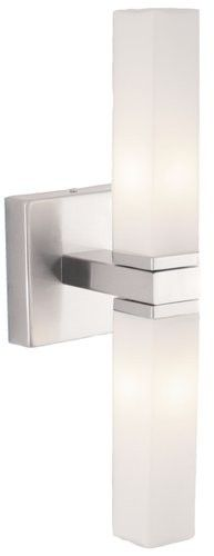 "Palermo Collection 2-Light 13"" Matte Nickel Wall Lamp 88284A"