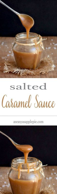 Rich and creamy homemade salted caramel sauce. No thermometer needed, just 4 ingredients and a pair of watchful eyes!