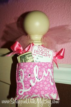 "Have the ""tooth fairy"" leave a receipt so your little ones can always remember when they lost their teeth. What a fun keepsake!"
