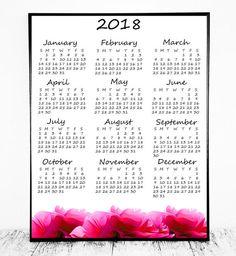 year at a glance calendar 2018