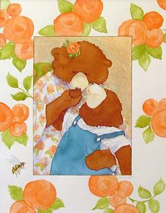Mother's Day, original illustration by Jane Dyer from Three Bears' Holiday Rhyme Book | R. Michelson Galleries