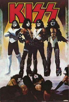 1976 KISS band Love Gun album cover replica magnet - new! Kiss Rock Bands, Kiss Band, Kiss Album Covers, Gene Simmons Kiss, Band Wallpapers, Love Gun, Alter, The Rock, Guns