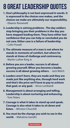 8 great leadership quotes.   #PrestigeBusinessSolutionsInc #leadership #emotional #intelligence #coaching #skills #development #tips #entrepreneur #quotes #growth #motivation #management #change