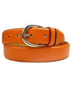 Orange Dress Leather Belts