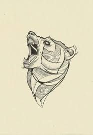 Image result for geometric bear tattoo