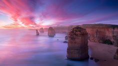 Australia's Mystical Twelve Apostles Rock Formation. This Australian landscape is biblical in more than its name; the limestone stacks that comprise the Twelve Apostles are other worldly. Great Places, Places To See, Beautiful Places, Amazing Places, It's Amazing, Amazing Pictures, Awesome, Dream Vacations, Vacation Spots
