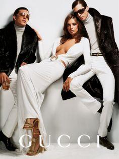 Daria Werbowy - Gucci Fall 2004 Mario Testino www.mariotestino.com via gucci.com  for #composition #motion