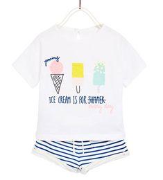 PLUSH T-SHIRT AND SHORTS SET-Sleeveless-T-SHIRTS-BABY GIRL   3 months-4 years-KIDS   ZARA United Kingdom