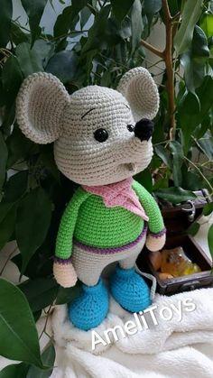 Beauty and Things Crochet Teddy Bear Pattern, Giraffe Crochet, Crochet Mouse, Crochet Animal Patterns, Crochet Doll Pattern, Crochet Bear, Crochet Patterns Amigurumi, Stuffed Animal Patterns, Baby Knitting Patterns