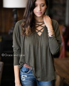 I can totally see myself in this Grace & Lace top!