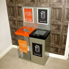 Our Box Cycle Double, designed for the collection of two waste streams in one unit! http://www.wybone.co.uk/recycling-bins/recycling-bins-internal/box-cycle-double/