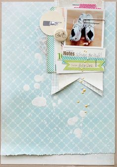 using supplies from Shabby Chic Crafts and Crafthouse #scrapbooking