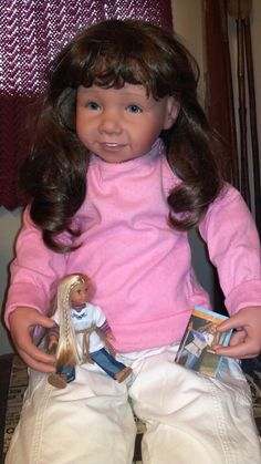 Chris with her American Girl Doll :)