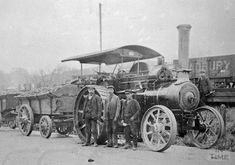 Steam wagon hauling loads of coal in the Radstock area, c.1900s