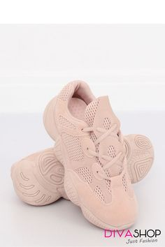 Women's sports shoes - an absolute hit of the season! Original lacing and a modern sole are the hallmarks of these shoes - thanks to them you can prove that you know the trends. Leather Fabric, Sports Shoes, Sports Women, Baby Dress, Fashion Shoes, Baby Shoes, Streetwear, Ootd, Pink