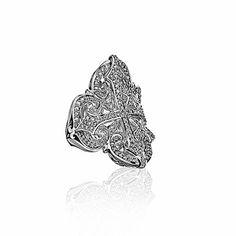 Filigree Cross Ring | Scott Kay Love my ring!