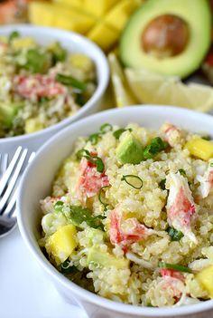 California Crab and Quinoa Salad is a light, fresh, and refreshing dish! #sidedish #salad #glutenfree   iowagirleats.com