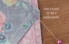 Triangle quilt tips